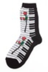 SOCKS KEYBOARD WITH LARGE ROSE WOMENS