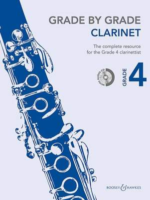 GRADE BY GRADE CLARINET GR 4 BK/CD