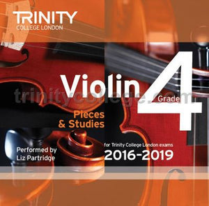 VIOLIN EXAM PIECES 2016-19 GR 4 CD