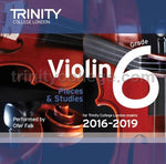 VIOLIN EXAM PIECES 2016-19 GR 6 CD