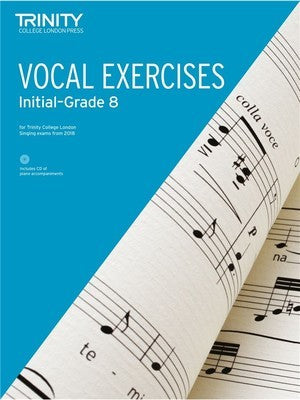 TRINITY VOCAL EXERCISES INITIAL-GR 8 FROM 2018 BK/CD