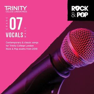 TRINITY ROCK & POP MALE VOCALS GR 7 CD 2018