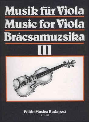 MUSIC FOR VIOLA VOLUME 3