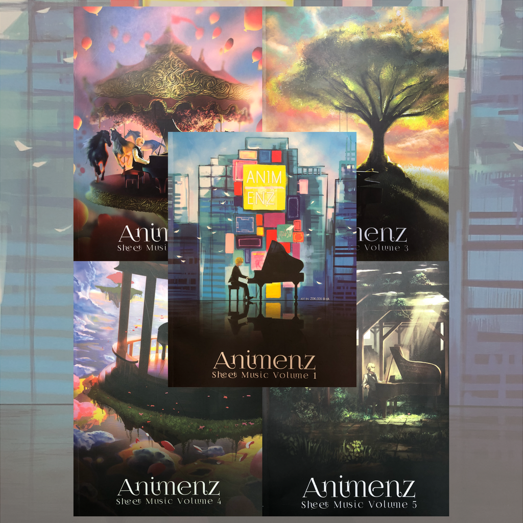 Animenz Muisc Books Volume 1 - 5 Collection & CD included