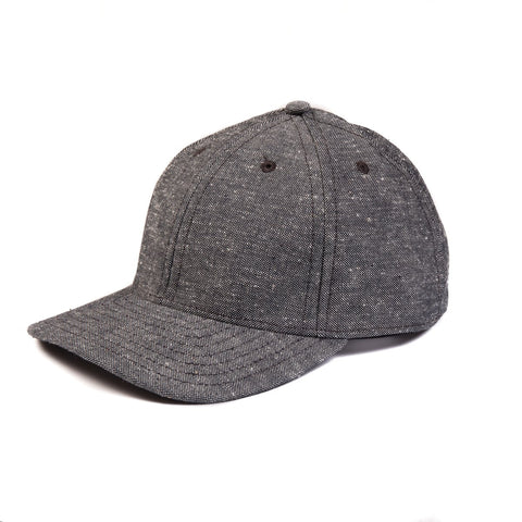 Raleigh Denim : 6 Panel Hat Gravel Canvas - dapperdirect