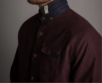 Descendant of Thieves : Burgandy Donegal Shirt Jacket - dapperdirect