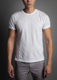 Descendant of Thieves : White Soft Heather Tee - dapperdirect