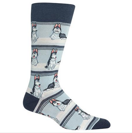 Husky Socks, Navy, HotSox - dapperdirect