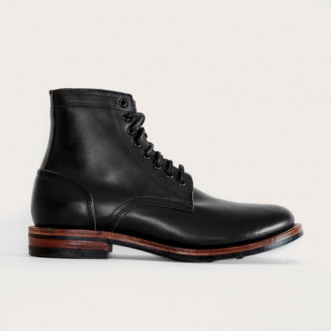 Oak Street Bootmakers : Black Dainite Trench Boot - dapperdirect
