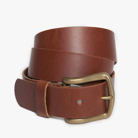 Moore & Giles : Antique Douglas Belt Cognac - dapperdirect