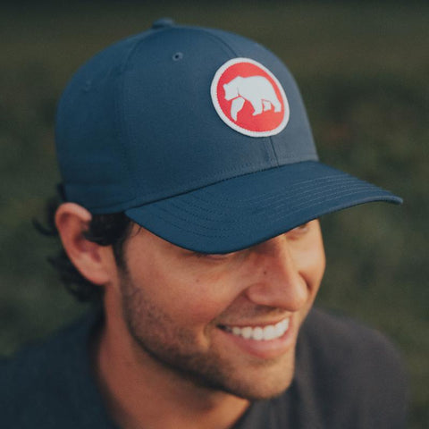 Circle Patch Performance Cap - Mineral Blue - dapperdirect
