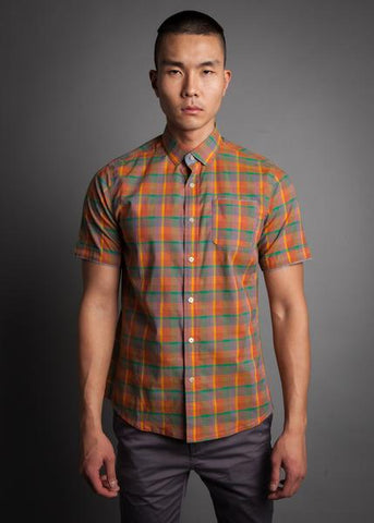 Descendant of Thieves : Orange Gold Plaid - dapperdirect