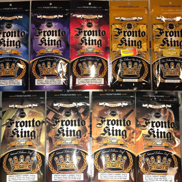 Fronto King Leaf Flavors, Fronto Strawberry, Fronto Grape, Fronto Honey Berry, Fronto Mango, Fronto Crush, Fronto Vanilla, Fronto Chocolate, Fronto Sweet, Fronto Honey