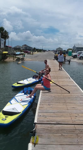 paddleboarding on Oak Island