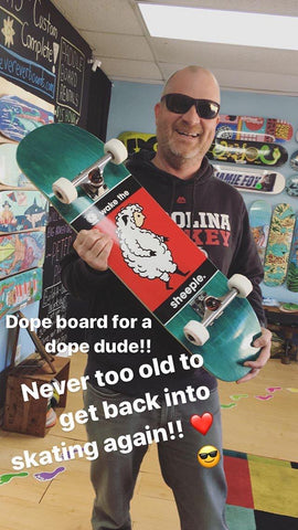 Happy Skateboarder at Never Ever Boards