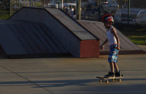 Skateboarding with Never Ever Boards on Oak Island