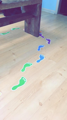 footprints in never ever boards