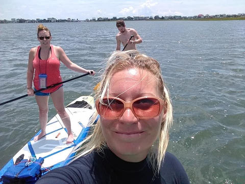 Paddle boarding with Never Ever Boards on Oak Island