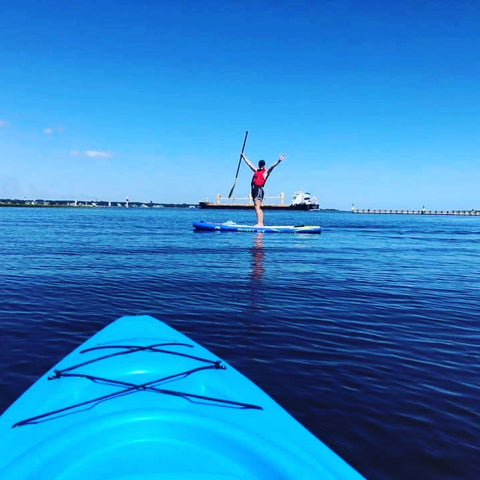 Paddle Boarding on Oak Island