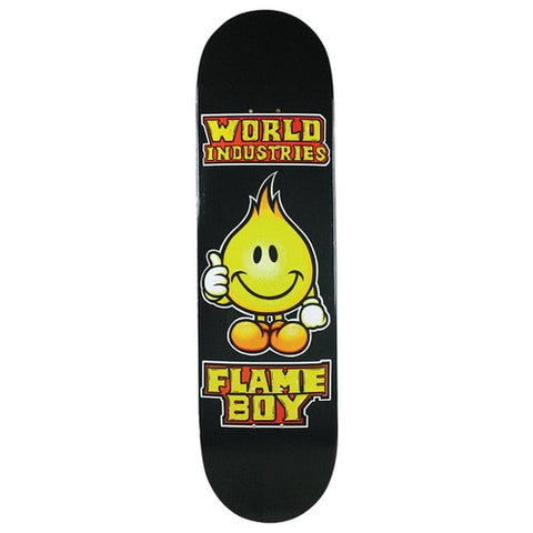 "8.5"" World Industries Solid Gold Flame Boy Skate Deck"