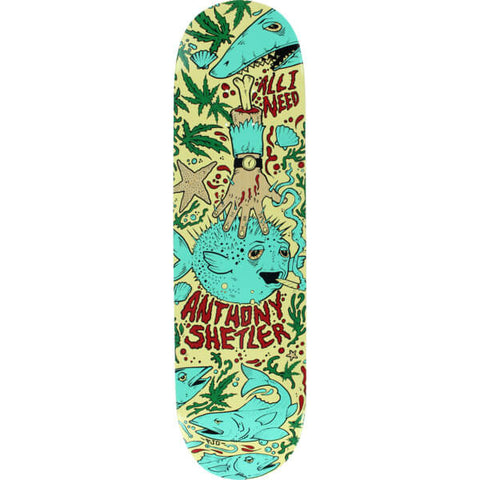 "8.25"" All I Need Anthony Shetler Seaweed Skate Deck"
