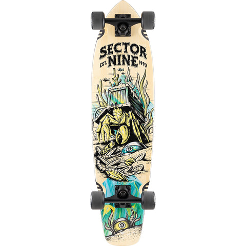 "34"" Sector 9 Bamboo Fortune Ft. Point Cruiser Complete Skateboard"