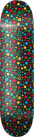 "8"" Black Polka Dot Heart Supply Skateboard"