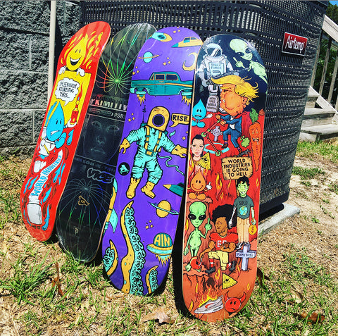 4 Mystery Name Brand Skate Deck Combo