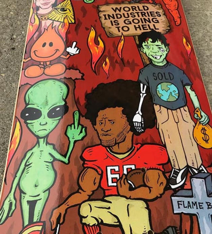 "8.1"" World Industries Worst Deck Ever Skateboard Complete"