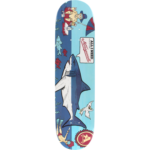 "8.25"" AIN X Narragansett Beer Shark Skateboard"