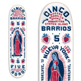 "8.0"" White 5Boro Virgin Mary Skate Deck"