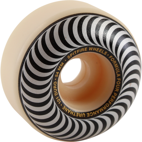 54mm 101a Spitfire Formula Fours Classic Swirl White W/ Silver