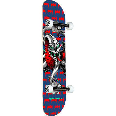 "7.5"" Powell Peralta Steve Caballero Cab Dragon One Off Navy Complete Skateboard"