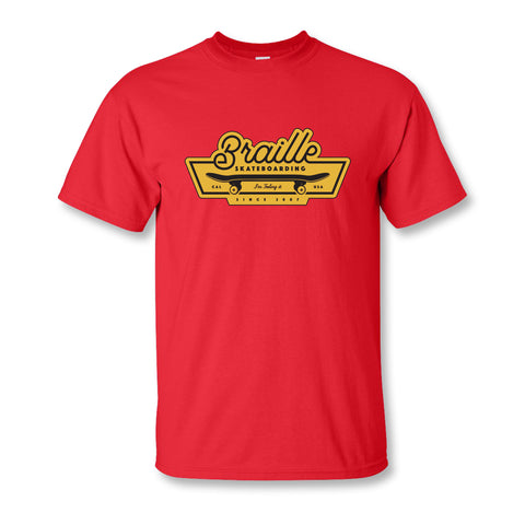 Swanky Red Braille Tee