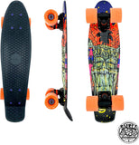 "22"" Swell Tiki Volcano Black/Black/Orange Penny Cruiser"