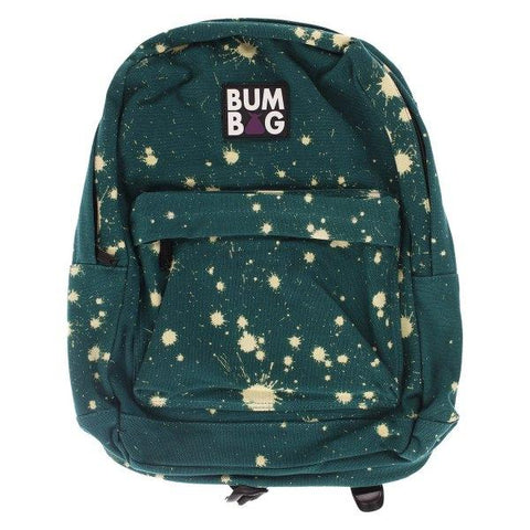 Bum Bag Green with Bleach Spots