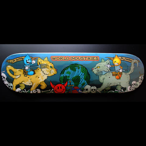 "8.38"" World Industries 'Cats Jousting' Deck"