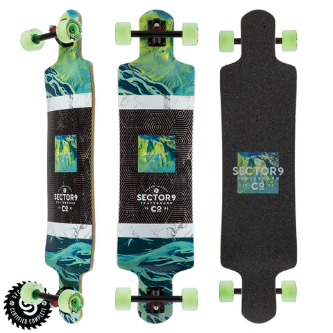 "Sector 9 Valley Fault Line 39.5"" Platinum Longboard"