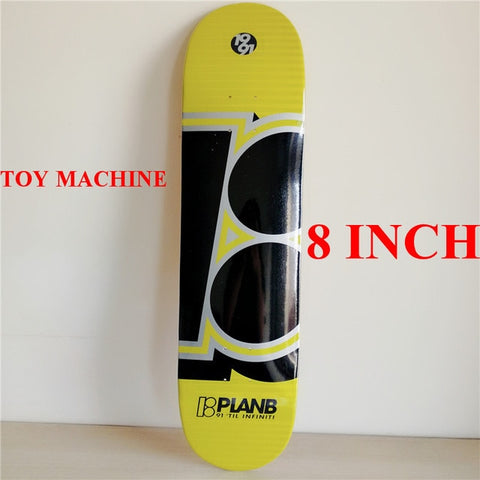 "Black N Yellow Plan B 8"" Skateboard Deck"
