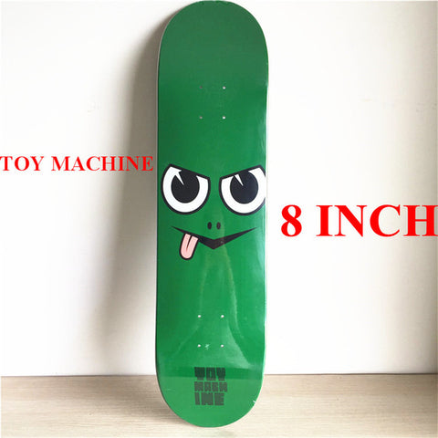 "8"" Green Tongue Out Toy Machine Deck"