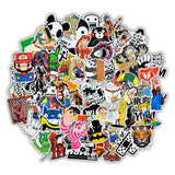 50 Piece Random Cartoon and Pop Culture Sticker Set