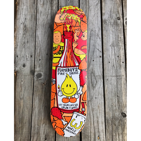 "8.1"" World Industries Flameboy - 'Fire Sauce' Skateboard Complete"