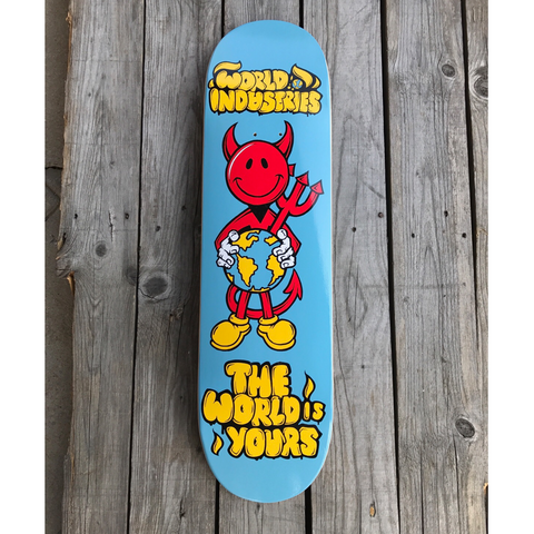 "8.1"" World Industries Devil Man - 'The World is Yours' Skateboard Complete"