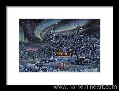 Aurora Bliss - Framed Print - 12.000 X 8.000 / Black / White - Framed Print