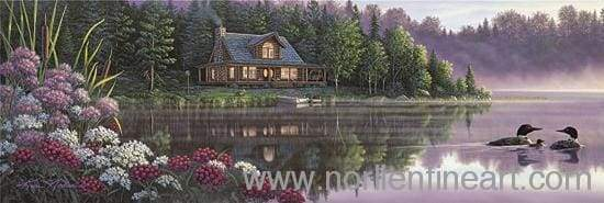 Beside Still Waters - Canvas Stretched - 10 X 28 / Canvas / Unstretched - Canvas