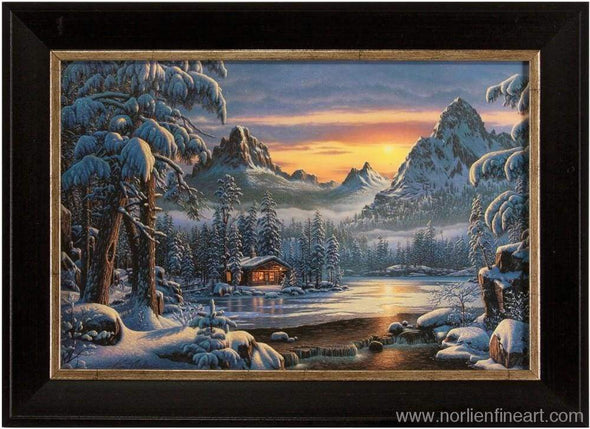 Evening On Mountain Lake - Mini - Miniatures