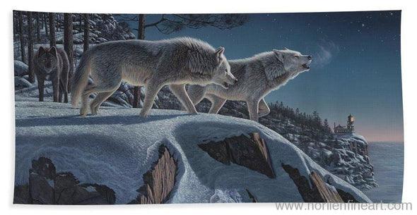 Moonlight Prowlers - Beach Towel - Beach Towel (32 X 64) - Beach Towel