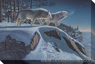 Moonlight Prowlers - Canvas Stretched - Canvas Stretched