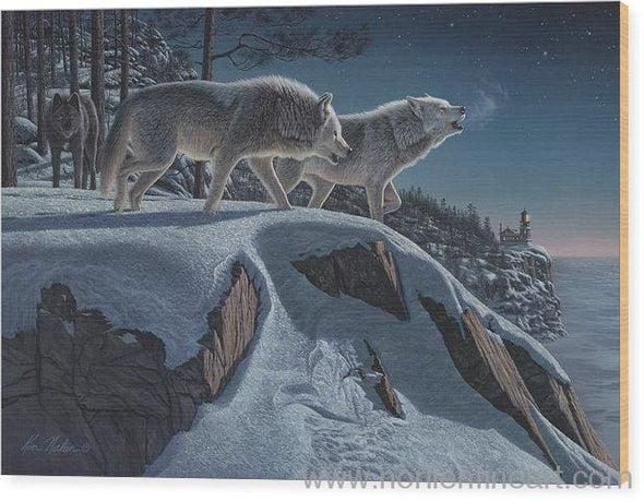 Moonlight Prowlers - Wood Print - 20.000 X 13.375 - Wood Print