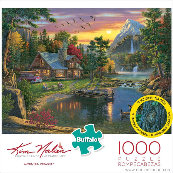 Mountain Paradise - 1000pc Puzzle - Puzzles